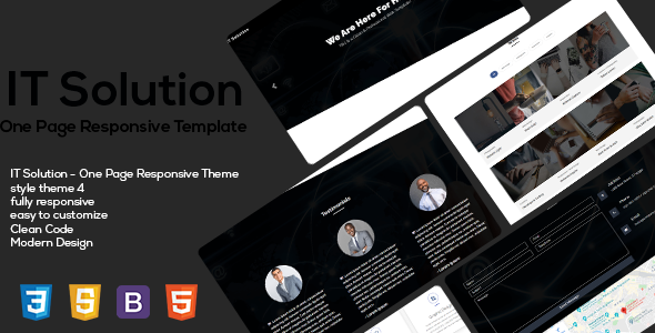 Special IT Solution One Page Responsive HTML5 Templates