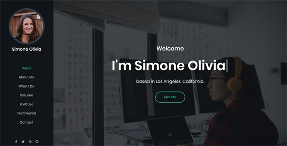Simone – Personal Portfolio Template