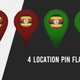 Uganda Flag Location Pins Red And Green - VideoHive Item for Sale