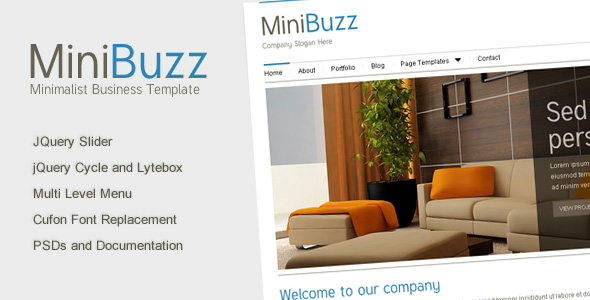 Free Download Minibuzz - Clean Minimalist Business HTML Template Nulled Latest Version