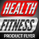 Health & Fitness Pro Flyer & Business Card PSD - GraphicRiver Item for Sale