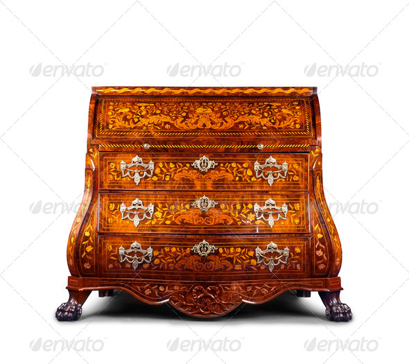 Antique style dresser isolated - Stock Photo - Images