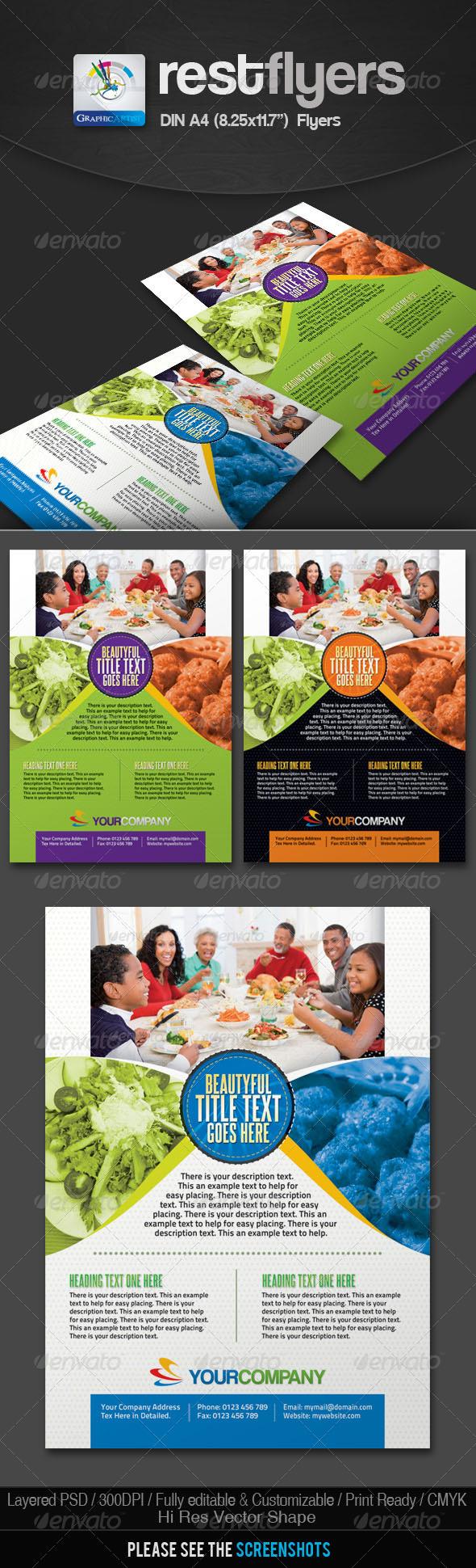 Rest Restaurant Foods Flyers - Restaurant Flyers