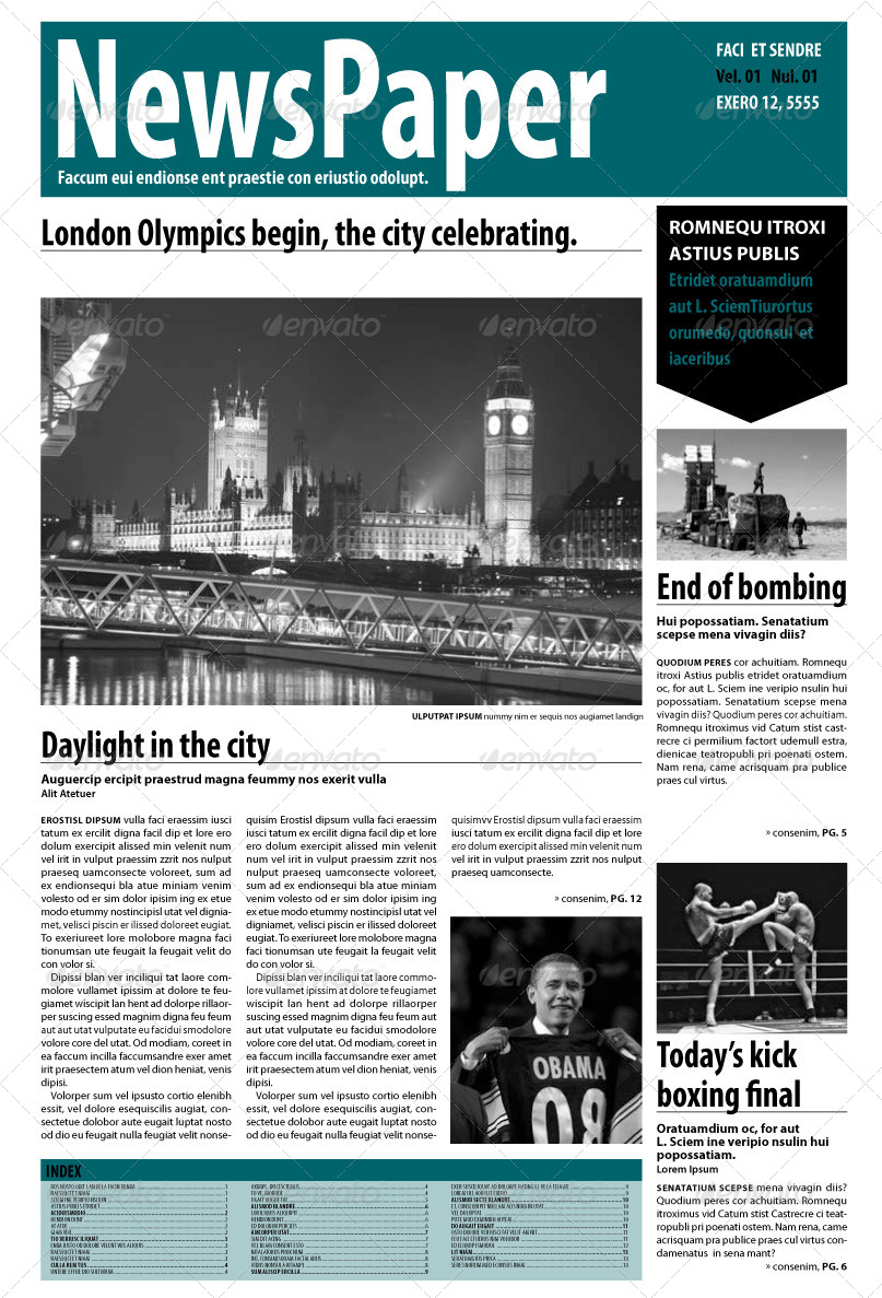 Indesign Newspaper 14 Pages By Blackinkbcn
