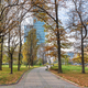 Autumn view of Swietokrzyski Park in Warsaw - PhotoDune Item for Sale