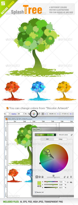 Splash Tree - Flowers & Plants Nature