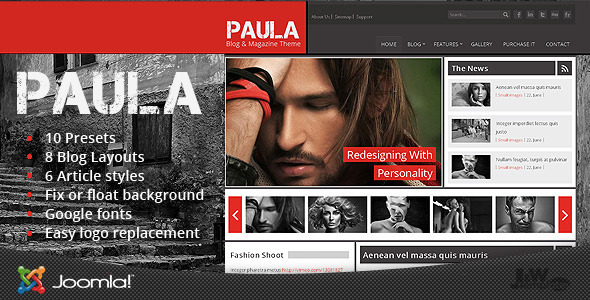 Paula – Blog & Magazine Joomla Theme