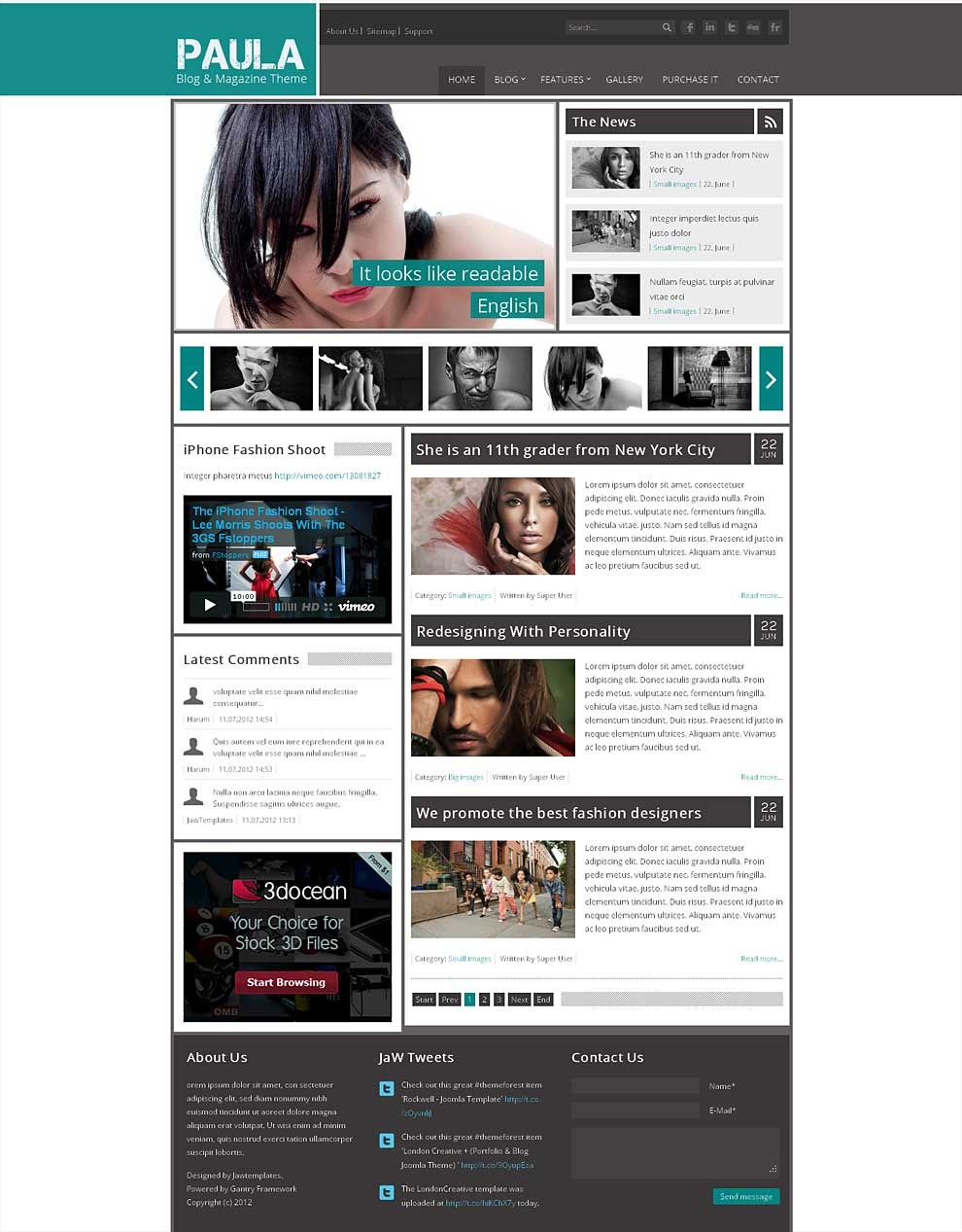 Paula   Blog & Magazine Joomla Theme by jawtemplates | ThemeForest
