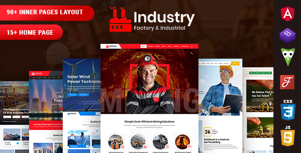Industry - Factory & Industrial Angular 10 Template