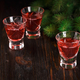 Glasses of fresh cranberry drink. - PhotoDune Item for Sale