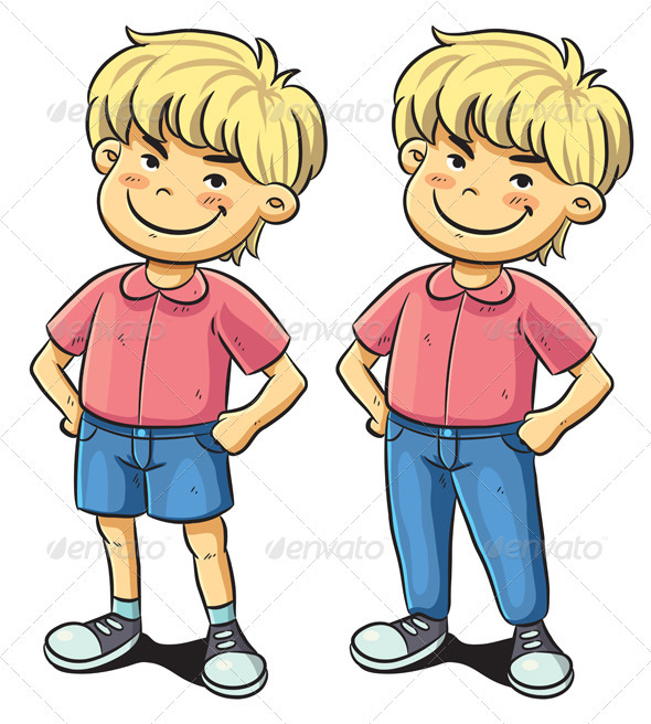 Confident Boy - People Characters