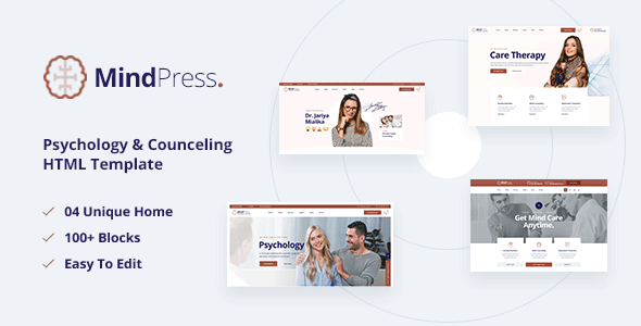 Wonderful MindPress - Psychology & Counseling HTML5 Template