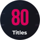 Minimal Titles Pack - VideoHive Item for Sale