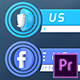 Social Media Lower Thirds | For Premiere Pro - VideoHive Item for Sale