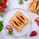 Sweet puff pastry cakes with strawberry - PhotoDune Item for Sale