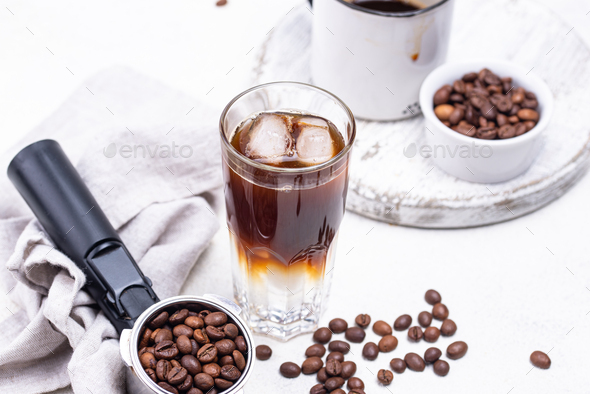 Espresso tonic, trendy coffee drink - Stock Photo - Images