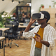 African-American Woman Enjoying VR in Office - PhotoDune Item for Sale
