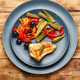 Baked fish with vegetables - PhotoDune Item for Sale