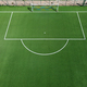 Aerial view of an empty green soccer field - PhotoDune Item for Sale