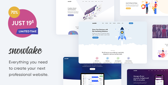 Snowlake - Creative Business & Startup WordPress Theme