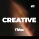 Creative and Modern Titles - VideoHive Item for Sale