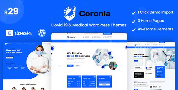 Coronia – Covid 19 & Medical  WordPress Themes