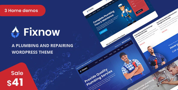 Excellent Fixnow - A Perfect Plumbing WordPress Theme