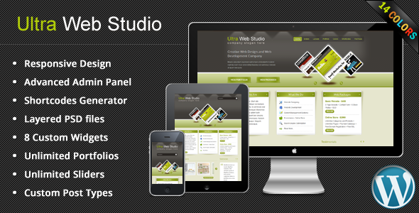 Free Download Ultra Web Studio, Blog & Portfolio Wordpress Theme Nulled Latest Version