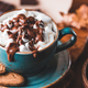 Close-up of hot chocolate with marshmallows on the table. - PhotoDune Item for Sale