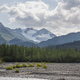 Mountains in Alaska above a glacial streambed on a sunny afternoon - PhotoDune Item for Sale
