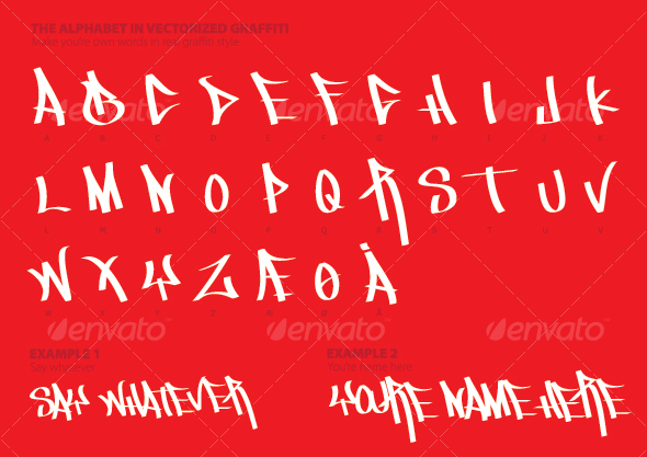 The Alphabet in Graffiti Style - Miscellaneous Vectors