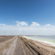 simple dirt road on salt lake - PhotoDune Item for Sale