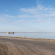 simple road and salt lake industrial landscape - PhotoDune Item for Sale