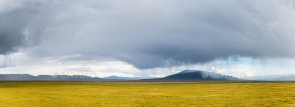 prairie landscape before the storm - Stock Photo - Images