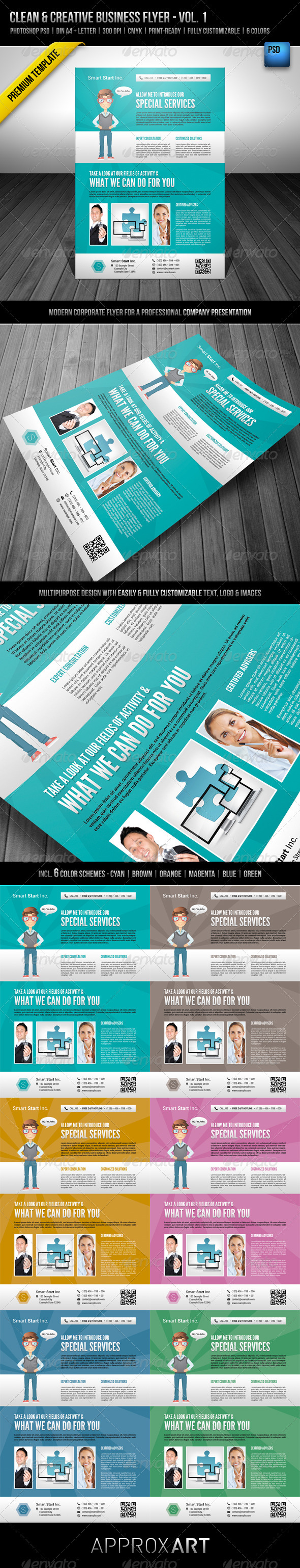Clean & Creative Business Flyer - Vol. 1 - Corporate Flyers
