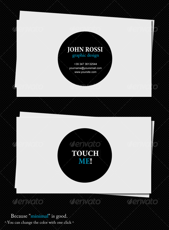 Minimal card - Corporate Business Cards