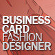 Business Card fashion designer - GraphicRiver Item for Sale