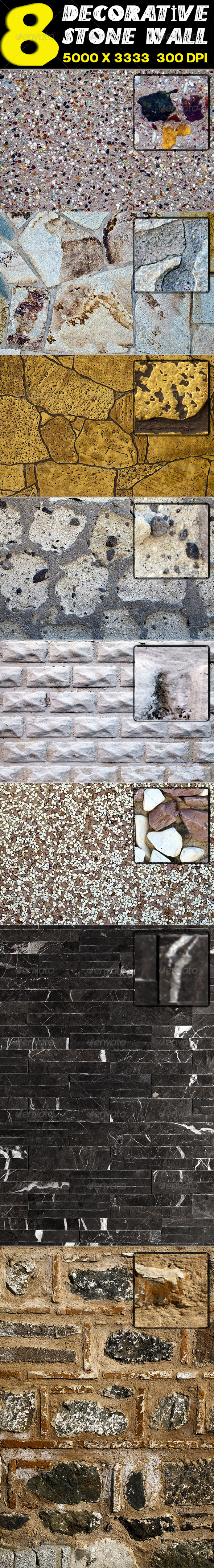 8 Decorative Stone Wall - Stone Textures