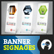 Minimal Outdoor Banner Signage - GraphicRiver Item for Sale