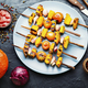 Pumpkin vegetable kebab. - PhotoDune Item for Sale