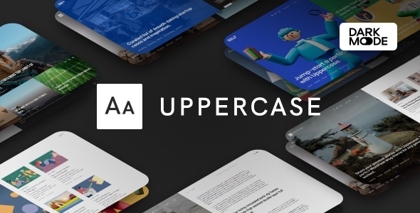 Uppercase - WordPress Blog Theme with Dark Mode
