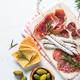 Traditional italian antipasto on white - PhotoDune Item for Sale