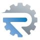 R Letter Gear Logo