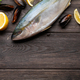 Raw fish cooking. Seafood and ingredients - PhotoDune Item for Sale