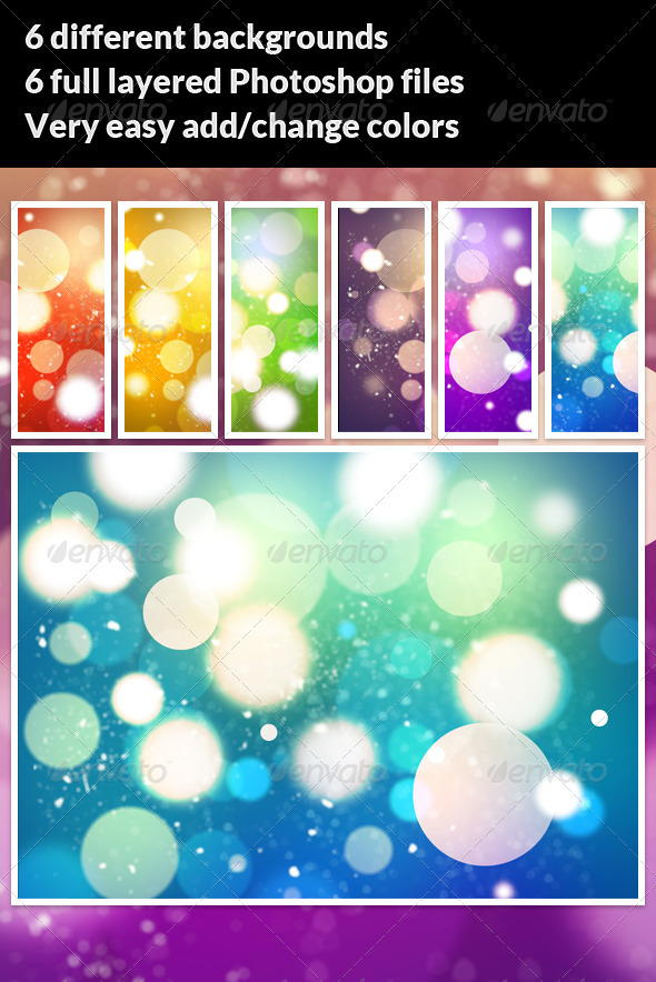 6 High Res Bokeh Backgrounds - Abstract Backgrounds