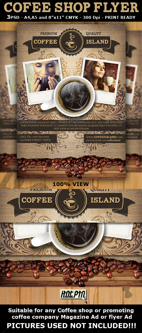 Coffee Shop Magazine Ad Or Flyer Template   Miscellaneous Events