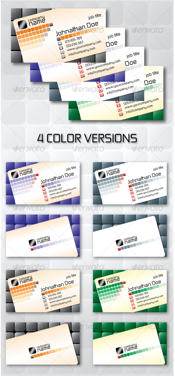 Business Card Squares - Corporate Business Cards