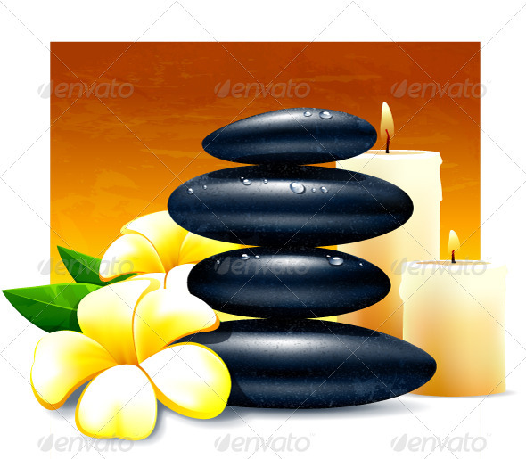 Spa vector illustration - Health/Medicine Conceptual