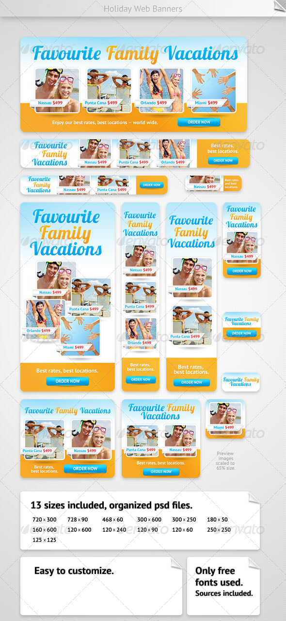 Holiday Web Banners - Banners & Ads Web Elements