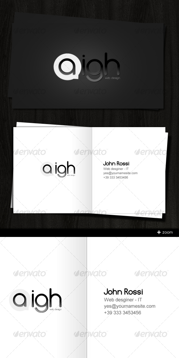 Aigh Card - Creative Business Cards